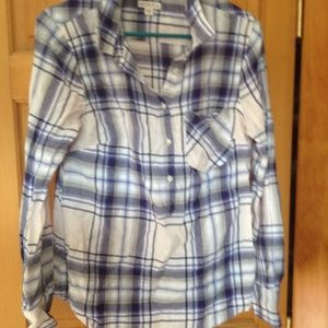 Merona for Target Pink and blue plaid tunic